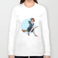 kiki Long Sleeve T-shirts featuring Modern Kiki by Nicola Davies