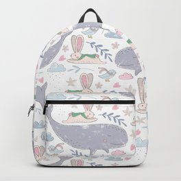 Whales and Bunnies Backpack