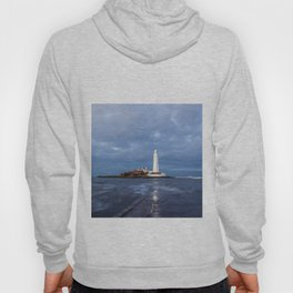 Dusk at St Mary's Lighthouse II Hoody