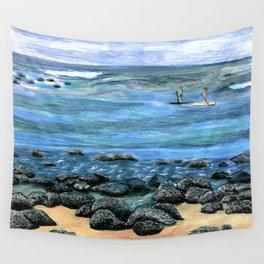 Poipu Beach Landscape Wall Tapestry