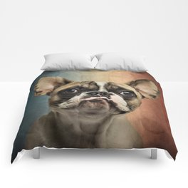 French bulldog, french flag ! Comforters