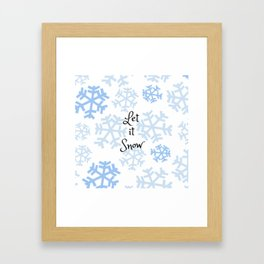 Let it Snow Snowflakes Framed Art Print