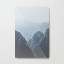 Mountains around Machu Picchu Metal Print