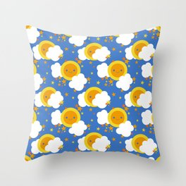 Celestial Kawaii Throw Pillow