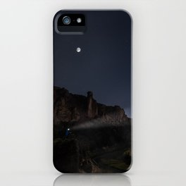 Smith Rock Night Bike iPhone Case