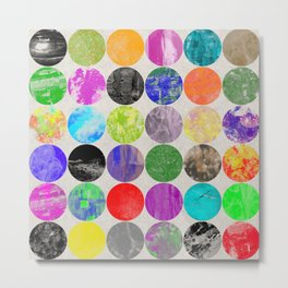 36 Textures - Multi Coloured, Multi Patterned, Multi textured Canvas Painting Metal Print