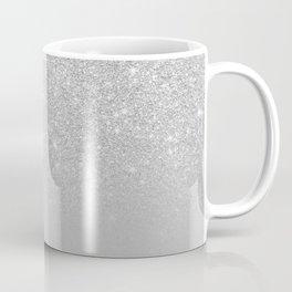 Trendy modern silver ombre grey color block Coffee Mug