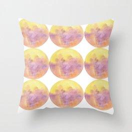 Ombre Circle (1) Throw Pillow