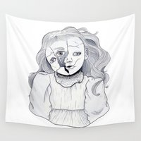 doll Wall Tapestries featuring Doll by scoobtoobins