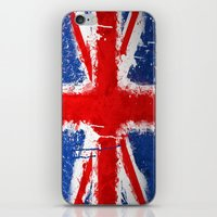 british iPhone & iPod Skins featuring BRITISH FLAG by Sophie