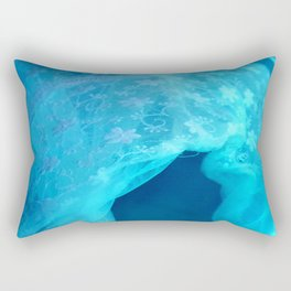 ghost in the swimming pool Rectangular Pillow