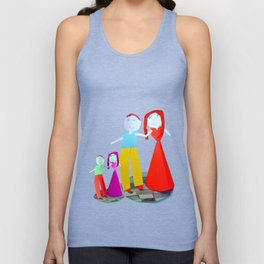 Dance me to the end of love | Kids Painting by Elisavet Unisex Tank Top