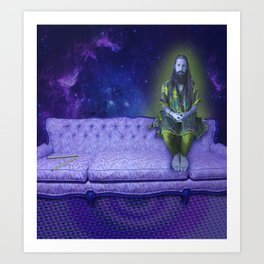 Purple Space Couch - Jeremy Art Print