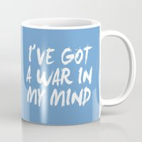 war Mugs featuring War by Jeremy Jon Myers