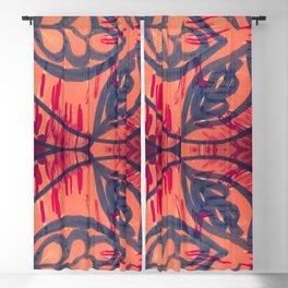 Coral fun Blackout Curtain
