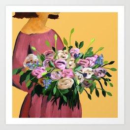 Posy V / Autumn Blooms Art Print
