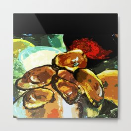 NOLA oysters Metal Print