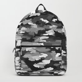 Foliage Abstract Pop Art In Monotone Black and White Backpack
