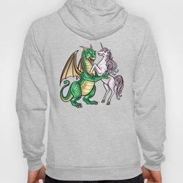 Dragon And Unicorn   Dancing Waltz Music Creature Hoody