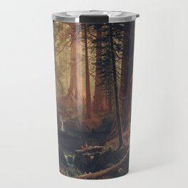 Giant Redwood Trees of California, Albert Bierstadt, 1874 Travel Mug