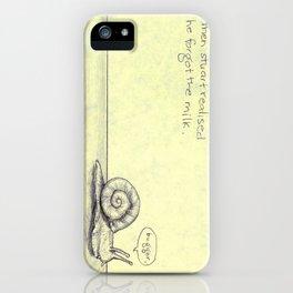 Snail Milk iPhone Case