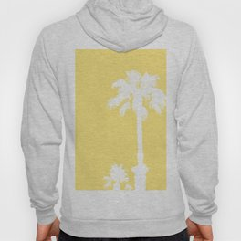 Palm Silhouettes On Yellow Hoody
