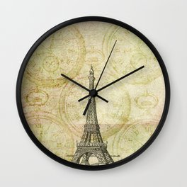 Paris Time Wall Clock