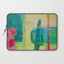 Prickly Pear and Saguaro Cactus Laptop Sleeve