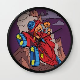 Attack the Track Wall Clock