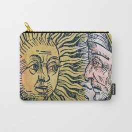Sun and Moon Faces Carry-All Pouch