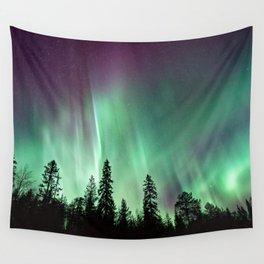 Colorful Northern Lights, Aurora Borealis Wall Tapestry