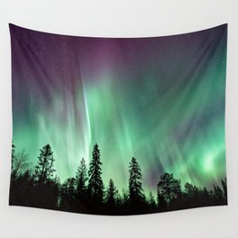 Colorful Northern Lights, Aurora Borealis Wall Tapestry
