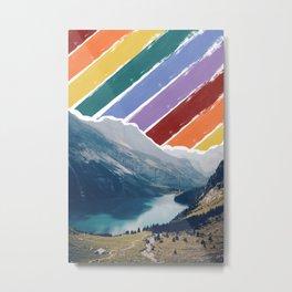 Rainbow Mountain Lake Metal Print