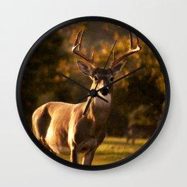 Geometric Deer Wall Clock