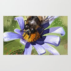 Bee on flower 18 Rug
