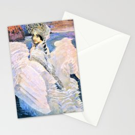 12,000pixel-500dpi - Mikhail Vrubel - The Swan Princess - Digital Remastered Edition Stationery Cards