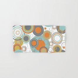 Retro Mid Century Modern Circles Geometric Bubbles Pattern Hand & Bath Towel