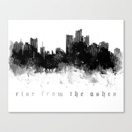 Detroit Rise From The Ashes Canvas Print