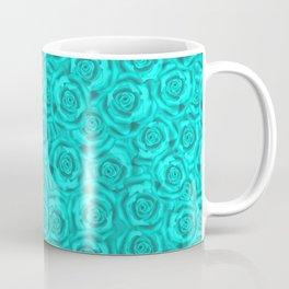 Roses . Neon turquoise . Coffee Mug