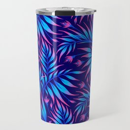 Waikiki Palm - Blue / Pink Travel Mug