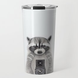 Raccoon Measuring Light / Mapache Midiendo la Luz Travel Mug