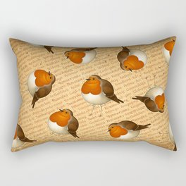 Chubby Erithacus Rectangular Pillow