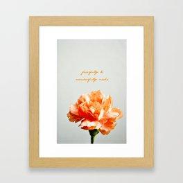 Fearfully & Wonderfully Made Framed Art Print