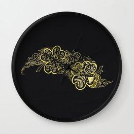 Four-leaf clover Wall Clock