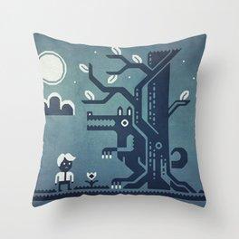 Midnight Menace Throw Pillow