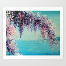 wisteria sea Art Print
