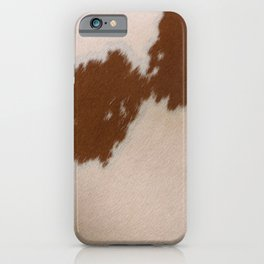 Light Brown Cowhide iPhone Case