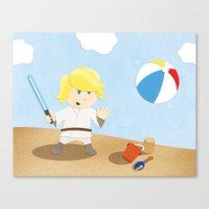SW Kids - Luke at the Beach Canvas Print