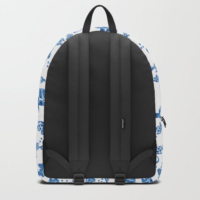 Blue fish. Backpack