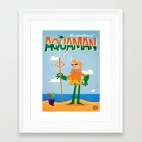 aquaman Framed Art Prints featuring Aquaman by Diego Riselli